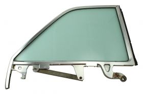 1963 1964 Cadillac Convertible Right Passengers Side Rear 1/4 Window Frame with Glass USED Free Shipping In The USA