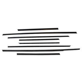 1963 1964 Cadillac 2-Door Coupe Window Sweep Set (8 Pieces) REPRODUCTION Free Shipping In The USA