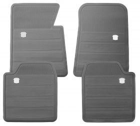 1965 1966 1967 1968 1969 1970 Cadillac Gray Rubber Floor Mats (4 Pieces) REPRODUCTION Free Shipping In The USA
