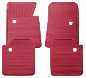 1965 1966 1967 1968 1969 1970 Cadillac Red Rubber Floor Mats (4 Pieces) REPRODUCTION Free Shipping In The USA
