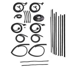 1966 Cadillac Fleetwood Brougham Sedan Advanced Rubber Weatherstrip Kit (24 Pieces) REPRODUCTION Free Shipping In The USA