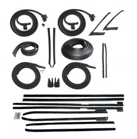 1965 Cadillac Calais and Deville 2-Door Hardtop Advanced Rubber Weatherstrip Kit (22 Pieces) REPRODUCTION Free Shipping In The USA