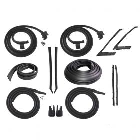 1965 Cadillac Calais and Deville 2-Door Hardtop Advanced Rubber Weatherstrip Kit (14 Pieces) REPRODUCTION Free Shipping In The USA