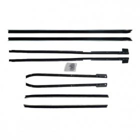 1967 1968 Cadillac Coupe Deville Window Sweep Set (8 Pieces) REPRODUCTION Free Shipping In The USA