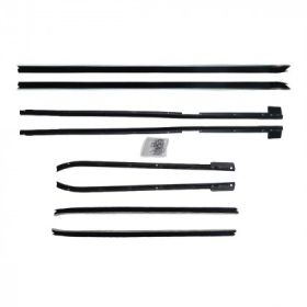 1967 1968 Cadillac Deville Convertible Window Sweep Set (8 Pieces) REPRODUCTION Free Shipping In The USA
