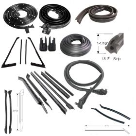 1966 Cadillac 2-Door Convertible Advanced Rubber Weatherstrip Kit (21 Pieces) REPRODUCTION Free Shipping In The USA