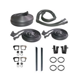 1969 1970 Cadillac Calais and Deville 4-Door Hardtop Advanced Rubber Weatherstrip Kit (27 Pieces) REPRODUCTION Free Shipping In The USA
