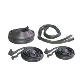 1969 1970 Cadillac Calais and Deville 4-Door Hardtop Basic Rubber Weatherstrip Kit (7 Pieces) REPRODUCTION Free Shipping In The USA