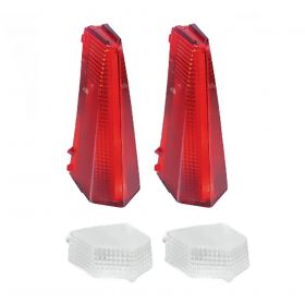 1969 Cadillac (EXCEPT Eldorado) Tail Light And Back Up Lens Set (4 Pieces) REPRODUCTION Free Shipping In The USA