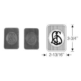 1927 1928 1929 1930 1931 1932 1933 1934 1935 1936 1937 1938 1939 1940 Cadillac LaSalle Monogram Rubber Pedal Pad 1 Pair REPRODUCTION Free Shipping In The USA
