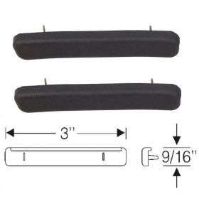 1936 1937 Cadillac (See Details) Rear Rubber Hood Corner Pads 1 Pair REPRODUCTION Free Shipping In The USA