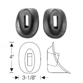 1938 1939 1940 Cadillac (See Details) Bumper Rubber Grommets 1 Pair REPRODUCTION Free Shipping In The USA