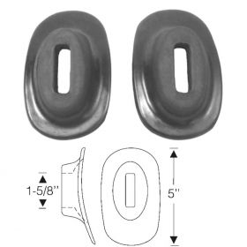 1937 1938 1939 1940 Cadillac (See Details) Rubber Bumper Grommets 1 Pair REPRODUCTION Free Shipping In The USA