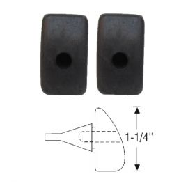 1941 1942 1946 1947 1948 1949 Cadillac (See Details) Fender to Hood Rubber Bumpers 1 Pair REPRODUCTION