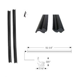 1959 1960 Cadillac 2-Door Convertible Quarter Window Leading Edge Rubber 1 Pair REPRODUCTION Free Shipping In The USA