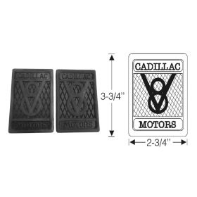 1927 1928 1929 1930 1931 1932 1933 1934 1935 1936 1937 1938 1939 1940 Cadillac V-8 Rubber Pedal Pads 1 Pair REPRODUCTION Free Shipping In The USA