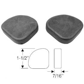 1937 1938 Cadillac (See Details) Rumbleseat Rubber Lid Corner Pads 1 Pair REPRODUCTION Free Shipping In The USA