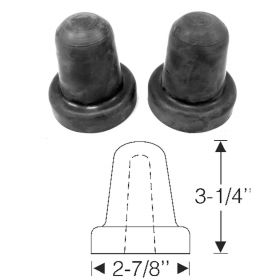 1934 1935 1936 1937 1938 1939 Cadillac (See Details) Front Spring Lower Arm Rubber Bumpers 1 Pair REPRODUCTION Free Shipping In The USA