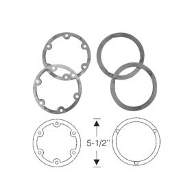 1941 Cadillac (EXCEPT Commercial Chassis) Fog Light Rubber Gasket Set (4 Pieces) REPRODUCTION Free Shipping In The USA