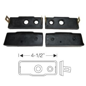 1940 1941 Cadillac and LaSalle (See Details) 4 Door Convertible Rubber Detachable Center Post Pads 4 Pieces REPRODUCTION Free Shipping In The USA