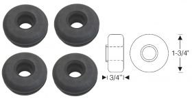 1941 1942 1946 1947 1948 1949 Cadillac Rear Stabilizer Bar Rubber Grommets Set (4 Pieces) REPRODUCTION Free Shipping In The USA