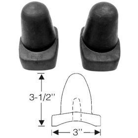 1935 1936 1937 1938 1939 1940 Cadillac (See Details) Rear Axle Spring Bumper Rubber Pads 1 Pair REPRODUCTION Free Shipping In The USA