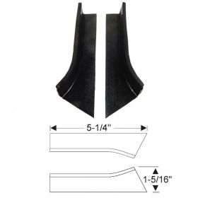 1937 1938 Cadillac (See Details) Rumbleseat Rubber Weatherstrips 1 Pair REPRODUCTION Free Shipping In The USA