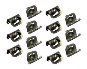 1937 1938 1939 Cadillac Door Edge Weatherstrip Clips Set (14 Pieces) REPRODUCTION Free Shipping In The USA