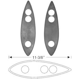 1934 1935 1936 1937 Cadillac Rubber Headlight Mounting Pads 1 Pair REPRODUCTION Free Shipping In The USA