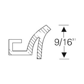 1946 1947 1948 1949 Cadillac Series 75 Limousine Running Board To Lower Body Edge Rubber Strips 1 Pair REPRODUCTION Free Shipping In The USA