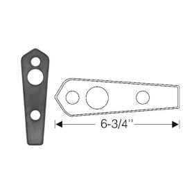 1942 1946 1947 Cadillac (Series 62 and Series 60 Special) Trunk Handle Rubber Mounting Pad REPRODUCTION Free Shipping In The USA