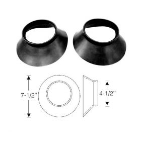 1947 1948 1949 1950 1951 1952 Cadillac Rubber Air Intake Scoop Rubber Mounting Pad 1 Pair REPRODUCTION Free Shipping In The USA