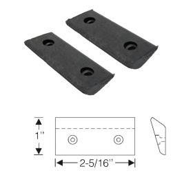 1937 1938 Cadillac Convertible (See Details) Front Door Upper Hinge Rubber Weatherstrips 1 Pair REPRODUCTION Free Shipping In The USA