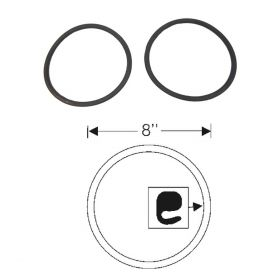 1941 1942 1946 1947 Cadillac Headlight Door to Lens Rubber Gaskets 1 Pair REPRODUCTION Free Shipping In The USA