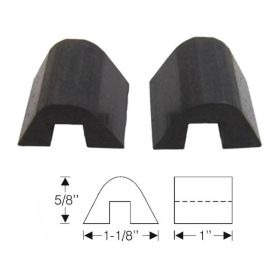1940 1941 1942 1946 1947 Cadillac Convertible Top Rest Rubber Blocks 1 Pair REPRODUCTION Free Shipping In The USA