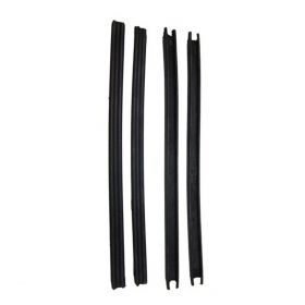 1948 1949 Cadillac Series 61 And Series 62 2-Door Coupe Rear Window Rubber Division Bar Seal Set (4 Pieces) REPRODUCTION Free Shipping In The USA