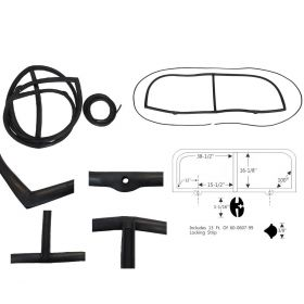 1948 1949 Cadillac Series 61 & 62 2 Door Coupe Windshield Rubber Lockstrip Type Set REPRODUCTION Free Shipping In The USA