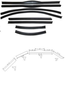 1942 1946 1947 Cadillac Series 62 2-Door Convertible Roof Rail Rubber Kit (8 Pieces) REPRODUCTION Free Shipping In The USA