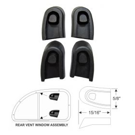 1940 1941 1942 1946 1947 1948 1949 1950 1951 1952 Cadillac (See Details) Rubber Rear Door Vent Divider Set (4 Pieces) REPRODUCTION Free Shipping In The USA