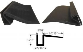 1937 1938 1939 1940 1941 1942 1946 1947 1948 1949 1950 1951 1952 1953 1954 1955 Cadillac Window Channel Filler Rubber Weatherstrip REPRODUCTION