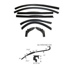 1950 1951 1952 1953 Cadillac Convertible (See Details) Roof Rail Weatherstrip Kit (8 Piece) REPRODUCTION Free Shipping In The USA