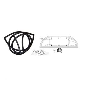 1950 1951 Cadillac Series 61 4-Door Sedan Rear Window Weatherstrip REPRODUCTION Free Shipping In The USA