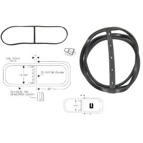 1942 1946 1947 Cadillac Series 62 2-Door Coupe Windshield Rubber Weatherstrip REPRODUCTION Free Shipping In The USA