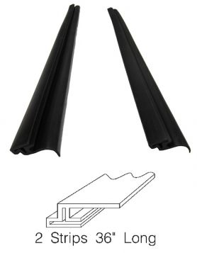 1957 1958 Cadillac Eldorado Brougham Hood To Fender Rubber Weatherstrip 1 Pair REPRODUCTION Free Shipping In The USA