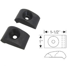 1946 1947 1948 1949 Cadillac (See Details) Fender to Hood Rubber Bumpers 1 Pair REPRODUCTION Free Shipping (See Details)