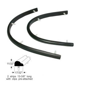 1957 1958 Cadillac (See Details) Front Hinge Pillar Rubber Weatherstrips 1 Pair REPRODUCTION Free Shipping In The USA