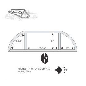 1949 Cadillac Series 62 2-Door Hardtop Rear Window Gasket Set REPRODUCTION Free Shipping In The USA
