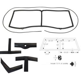 1948 1949 Cadillac Series 62 2-Door Windshield Gasket Set REPRODUCTION Free Shipping In The USA
