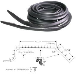 1959 1960 Cadillac 4-Door 4-Window Hardtop Roof Rail Weatherstrips 1 Pair REPRODUCTION Free Shipping In The USA