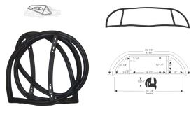 1950 1951 1952 Cadillac Series 62 and 60 Special Rear Window Rubber Weatherstrip REPRODUCTION Free Shipping In The USA